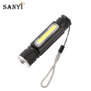 USB Handy Powerful COB LED Zoomable Flashlight Rechargeable Torch USB Magnet Flash Light Pocket Camping Lamp Built-in 18650