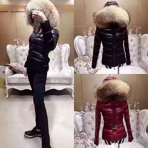Wholesale MONCLERS top designer winter jacket women classic brand thick hooded long luxury down jacket female Slim version of heavy fur collar coat