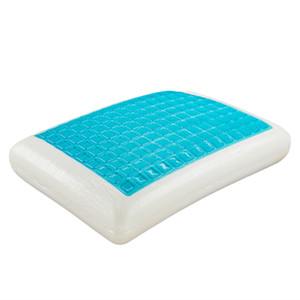 "23x15x5"" Gel Sheeet Memory Cotton Bread Pillow And Low Profile Pillow Single slow rebound memory cotton protection cervical vertebra"