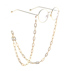 JGL0026 2020 design Gold metal thick glasses chain Eyeglass Lanyard Sunglasses Necklace Cord Neck Strap Holder Eye wear jewelry