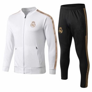 Wholesale new 2019 2020 Real Madrid tracksuit adult soccer chandal Maillot De Foot tracksuit 2019 20 adult training suit survêtement Sportswear