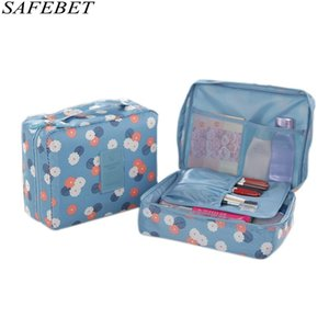 SAFEBET Brand Women Men Multifunction Organizer Waterproof Portable Makeup Bag Travel Beauty Necessary Cosmetic Bag Cosmetic Box #44821