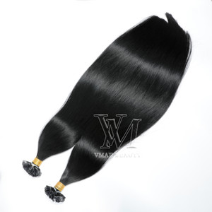 Wholesale 16 613 hair resale online - Flat Tip Double Drawn Straight Keratin Virgin Human Hair Extensions g strand s Pre bonded to Inch B