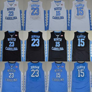 camisa do jérsei do logotipo venda por atacado-Salto NCAA North Carolina Tar Carter Michael faculdade azul branco baratos preto jersey camisas Basketball Jerseys costurado Logos