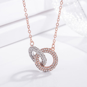 Wholesale New Product Double Loop Necklace Ma am Ornament Korean Edition Autumn And Winter Hundred And Up Adornment Accessories