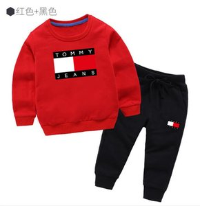 Wholesale Classic Luxury Logo Designer Baby t shirt Pants coat jacekt hoodle sweater olde Suit Kids fashion Children s Cotton Clothing Sets GA217