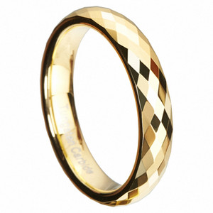 Wholesale unique christmas jewelry for sale - Group buy Gold Mercury Multi Faceted Tungsten Carbide Wedding Rings Band High Polish mm Statement Infinity Bridal Jewelry Unique Christmas Present