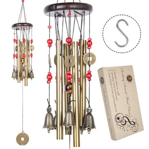 Chinese Traditional Amazing 4 Tubes 5 Bells Bronze Yard Garden Outdoor Living Wind Chimes 60cm extra large handcrafted wind chimes
