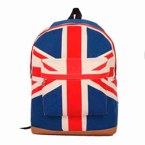 Wholesale Sleeper NEW FASHION UK British Flag Union Jack Style Backpack Shoulder School Bag Backpack Canvas hot