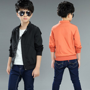 Wholesale Boys Coat Casual Cuhk Zipper Shirt Solid Color Spring and Autumn New Children s Jacket Colors Ages