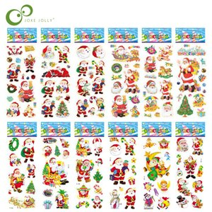 Scrapbooking Bubble Puffy Stickers Merry Christmas Santa Claus Stickers Reward Kids Toys For Children Factory Direct Sales GYH