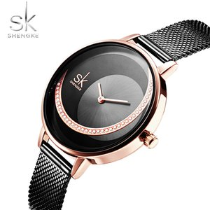SHENGKE Reloj Mujer 2019 Women Dress Watch Top Brand Luxury Stylish Design Stainless Steel Ladies Quartz Wristwatches For female
