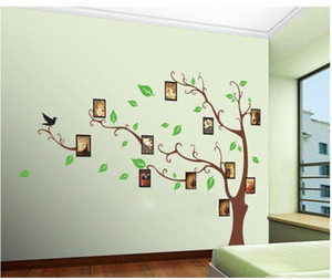Wholesale Large Brown Photo Trees D Wall Sticker Beauty Wall Decals Removable Pvc Wall Decor Stickers Dropshipping120 Cm