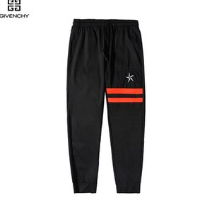 Wholesale 222 Men s women new casual sports and fitness pants foreign trade explosion models European and American style stitching trousers men