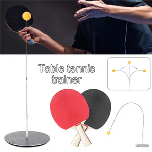 Wholesale Portable Table Tennis Trainer Flexible Shaft Ping Pong Ball kids Table Tennis kit tools Children Indoor Outdoor Leisure Decompression Play