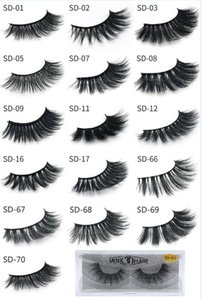 HOT New 3D Mink Eyelashes Eyelashes Messy Eye lash Extension Sexy Eyelash Full Strip Eye Lashes by chemical fiber Thick DHL shipping