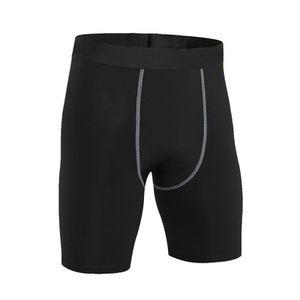 OA Fitness Men's Pro Solid Color Compression Tight Shorts Bodybuilding Quick Dry Elastic Slim Fit Breathable Short Pants