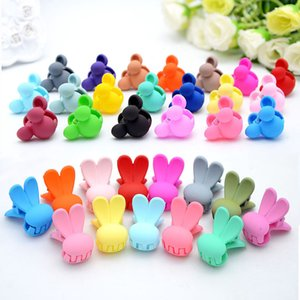 Wholesale Cartoon Children Hair Clips Boutique Trumpet Bunny Baby Candy Color Acrylic Springs Injection Card Hairpins Girls Hair Accessories