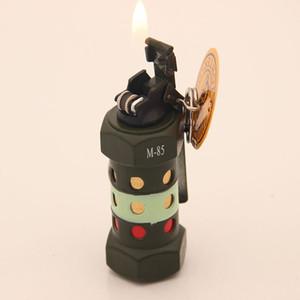 Originality Personality Grinding Wheel Inflation Flame Antitank Grenade Modeling Bring Key Buckle Military Pendant Lighter