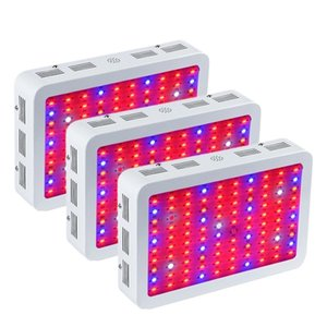 Wholesale high quality grow lights resale online - Full Spectrum Grow Lights W Double Chip LED Red Blue UV IR For Indoor Plant and Flower High Quality