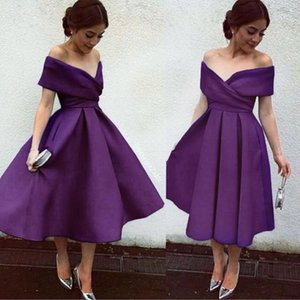 Wholesale Off the Shoulder Short Semi Formal Dresses Party Dresses Custom Made