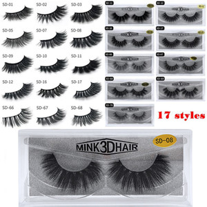 1Pair lot 100% Real Siberian 3D Mink Eyelashes Full Strip False Eyelash Long Individual Eyelashes Mink Lashes Extension on Sale