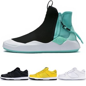 Wholesale New Abyss Diamond Supply Co x Knit Skate Shoes Black White Casual Fashion Shoes Mens Ankle Training SB Dunk Sneakers Womens Sports Shoes