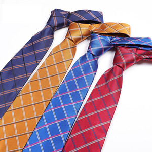 Men's Tie Manufacturers Spot Supply Polyester Silk Trendy Arrow Type Plaid Tie Tie on Sale