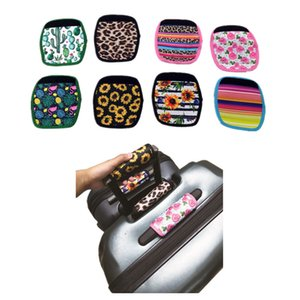 Wholesale 8 Colors Neoprene Luggage Suitcase Handle Grips Wraps Travel Sports Duffel Bags Tags Floral Striped Luggages Handle Strap Identifiers C82102