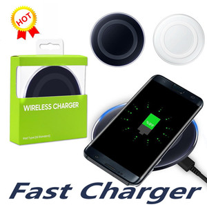 Wholesale High Quality Low Price Universal Qi Wireless Charger Charging For Samsung Galaxy s7 Edge s8 plus note8 iphone X mobile pad with package