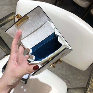 Wholesale Ms Zero Money Clip Brand Purse Bags Cowhide Brief Paragraph New Folding Fashion Ladies Wallet Genuine Woman Leather For Women
