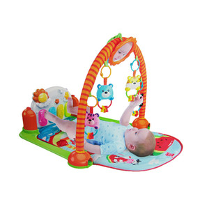 Wholesale Baby fitness rack and baby carpet toy children gym play mat with music