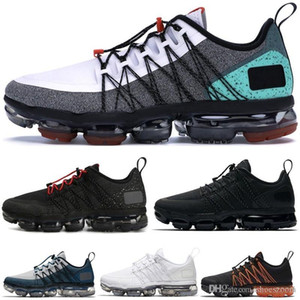 Wholesale 2019 Men Running Shoes Best Quality Black Anthracite Run Utility White Reflect Silver Discount Shoes Sport Sneakers Size