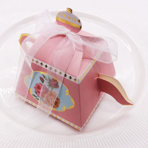 Wholesale baby showers favours for sale - Group buy 10pcs Teapot Candy Box with Ribbon Gift Wedding Favour Sweet Cake Gift Boxes Baby Shower Souvenirs Birthday Home Party Favors