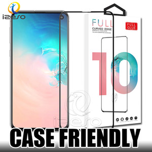 Wholesale 5D Full Glue Tempered Glass Coverage Screen Protector for Samsung A10 A50 A70 A80 iPhone XS MAX XR Huawei P30 with Retaill Packaging
