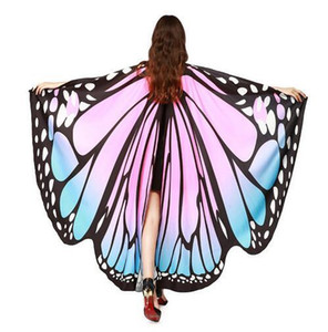 Wholesale Chamsgend Drop Shipping HOT Women Butterfly Wings Pashmina Shawl Scarf Nymph Pixie Poncho Costume Accessory
