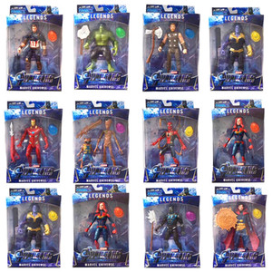 Wholesale Marvel Toys The Avengers Action Figures with led Superhero Thor Captain America Action Figures Collectible Model Doll kids toys