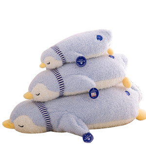 Wholesale Soft Cute Penguin Sleeping Pillow Plush Toy Down Cotton Penguin Doll Nice Child Birthday Christmas Gift