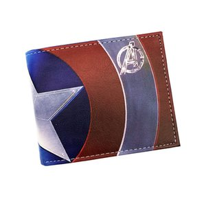 Wholesale designer wallet purse Free Shipping Anime Captain America Purse Credit Oyster License Card Holder Cartoon Wallet