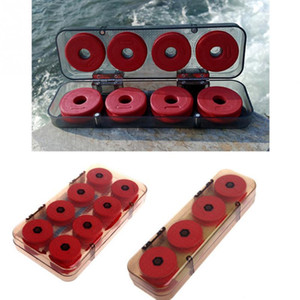 Wholesale 8 Durable Red Foam Winding Board Fishing Line Wire Shaft Bobbin Spools Tackle Box Gift