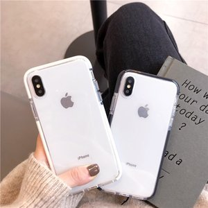 Wholesale Silicone Cellphone Case Simple Transparent Fashion Phone Case For Iphone X XR XS MAX PLUS Four corner Shatter resistant Personality Case
