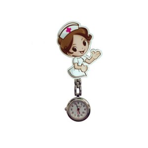 Wholesale Trendcy Beautiful Flower D Cartoon Angel Girls Ladies Women Nurse Watches Unisex Doctor Medical FOB Pocket Hang Clip Watches