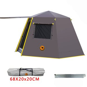 Wholesale UV hexagonal aluminum pole automatic Outdoor camping wild big tent persons awning garden pergola CM