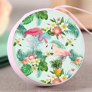 Wholesale Bag female new flamingo mini student simple female cute headphones small wallet cartoon printing coin purse LQ015
