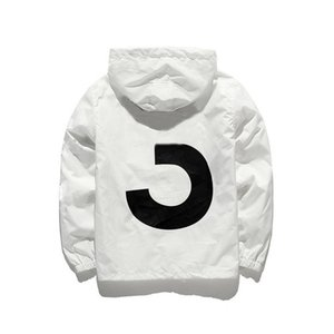 Wholesale New Brand Designer Jacket Fashion Windbreaker With Pattern Luxury Mens Jackets Clothing Women Hooded Skateboard Streetwear White Clothes