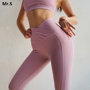 Wholesale Le Nakai Pink Flex Booty Yoga Leggings For Women High X Waisted Push Up Yoga Pants Scrunch Butt Workout Fitness Legging Gym Wear C19040301