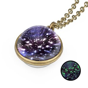 Wholesale 2019 new design Starry Sky Cabochon Necklace Ball Universe Necklace Fashion Designer Necklace Jewelry for Women Men Gift