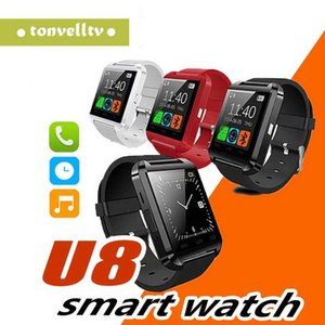 Wholesale Smart Watch U8 Sport Wireless Bluetooth Inteligente Wrist Watches Fitness Tracker Pedometer Remote Control for iPhone Android IOS Phone
