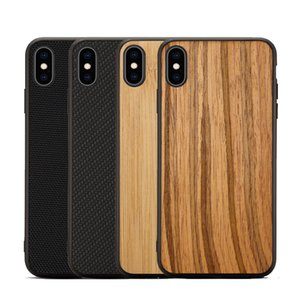 Wholesale New Wooden Phone Case for iPhone XS MAX XR Plus Sandstone Silicon Nylon Bumper Case For Samsung S10 S10E S10 Phone Cover