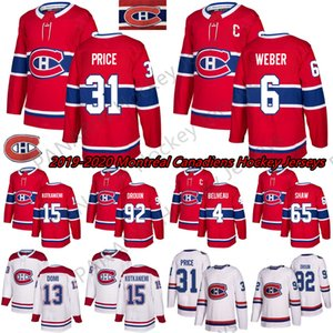 nuevos sheos al por mayor-2019 New Montréal Canadiens Shea Weber Carey Price Brendan Gallagher Max Domi cosido Rojo y blanco Hockey sobre hielo Jerseys